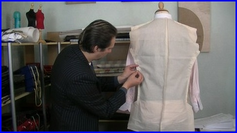 Bespoke tailor michael coates is making adjustments to a toile or slopper #learntosew #howtosew.