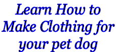 Learn How to  Make Clothing for  your pet dog