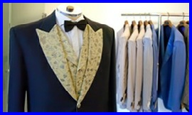 Learn To Sew a tailored jacket. An image of a gents jacket on a stand #learntosew #howtosew.